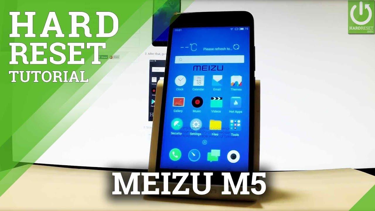 MEIZU M5 HARD RESET / Hardware Keys Method / Format