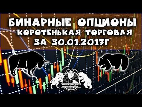 Бинарные Опционы - Коротенькая  торговля за 30.01.17г
