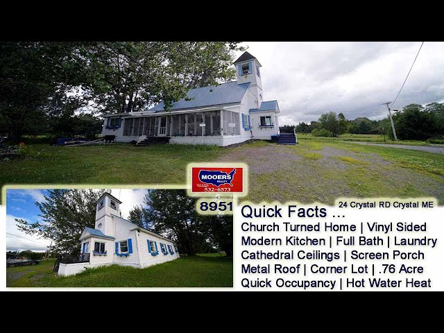 Real Estate In Maine For Sale | Church Made Into ME Home MOOERS REALTY #8951