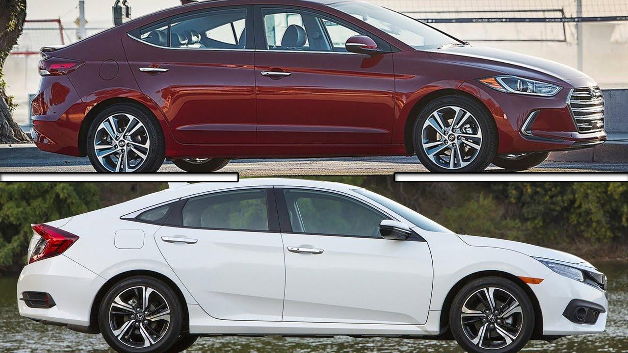 Hyundai elantra vs honda civic sedan youtube for Honda or hyundai