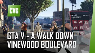 GTA V on PS4 - Vinewood Boulevard Walk in First Person View