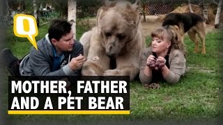 This Russian Couple Adopted a Baby Bear 23 Years Back and He Still Lives With Them