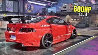 Need for Speed Heat Gameplay - 600HP ACURA RSX-S Customization | Max Build