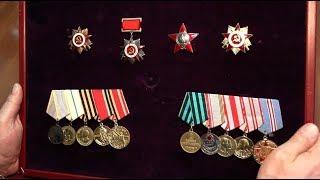 Коллекция наград. Ордена, боевые и юбилейные медали ВОВ. Грудь героя.