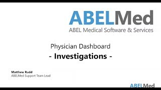 Physician Dashboard - Investigations