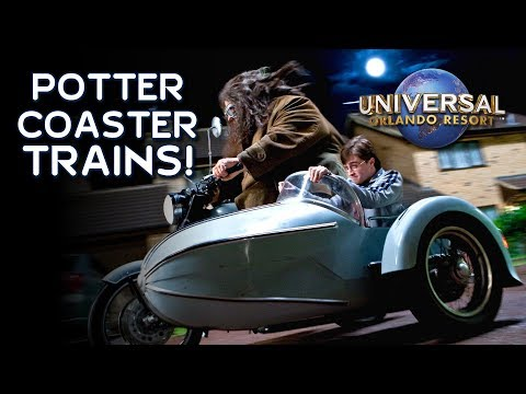 Potter Coaster Trains on the Track in Universal Orlando - Hagrid's Magical Creatures