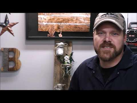 DIY Recycled Pallet Wood and Mason Jar Organizer