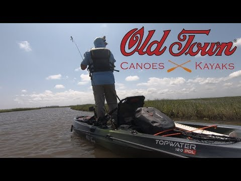 Old Town Topwater 120 PDL, Quality Fishing Kayak for the budget minded!