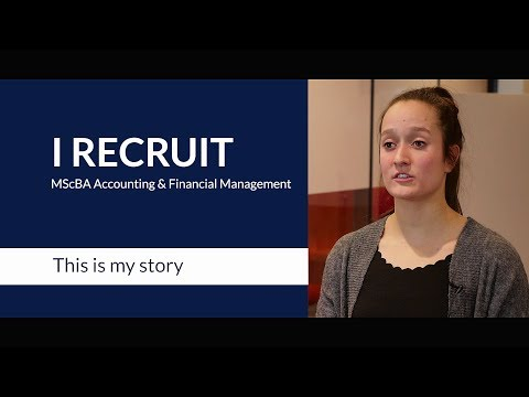 A recruiter talks about RSM's MSc in Accounting & Financial Management