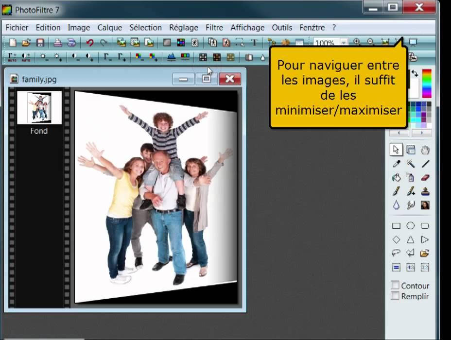 Tutoriel Photofiltre: comment créer une carte personnalisée - YouTube