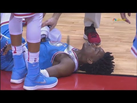De'Aaron Fox Hits Head On Court And Gets Bloody Eye! Leaves Game! Kings vs Rockets!
