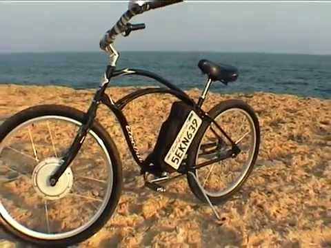 mon v lo electrique beach cruiser electra e bike crystalyte youtube. Black Bedroom Furniture Sets. Home Design Ideas