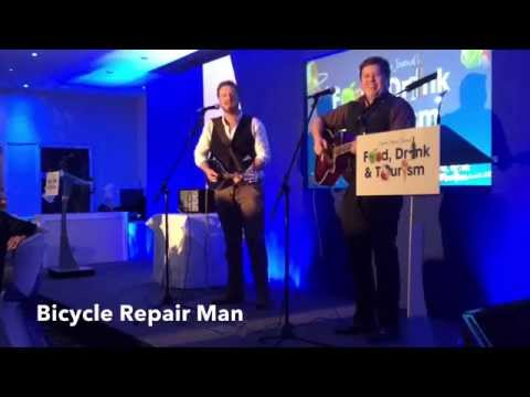 Bicycle Repair Man perform at the 2015 North Devon Journal Food, Drink and Tourism Awards