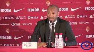 Monaco football club unveil Thierry Henry as new coach