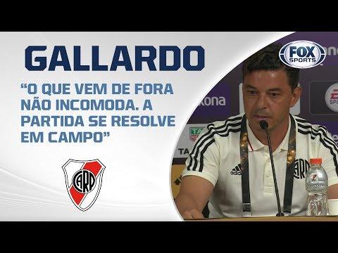 Gallardo, en confencia de prensa