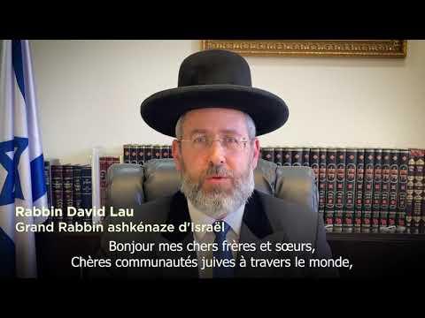 Voeux Du Grand Rabbin D'Israël