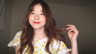 ASMR 로즈핀치의 데일리 웨이브 스타일링 😉│고데기 방법, 수다떨면서 알려드릴게요 :)│Hair styling, Tutorial, Hair Curling│Soft Spoken