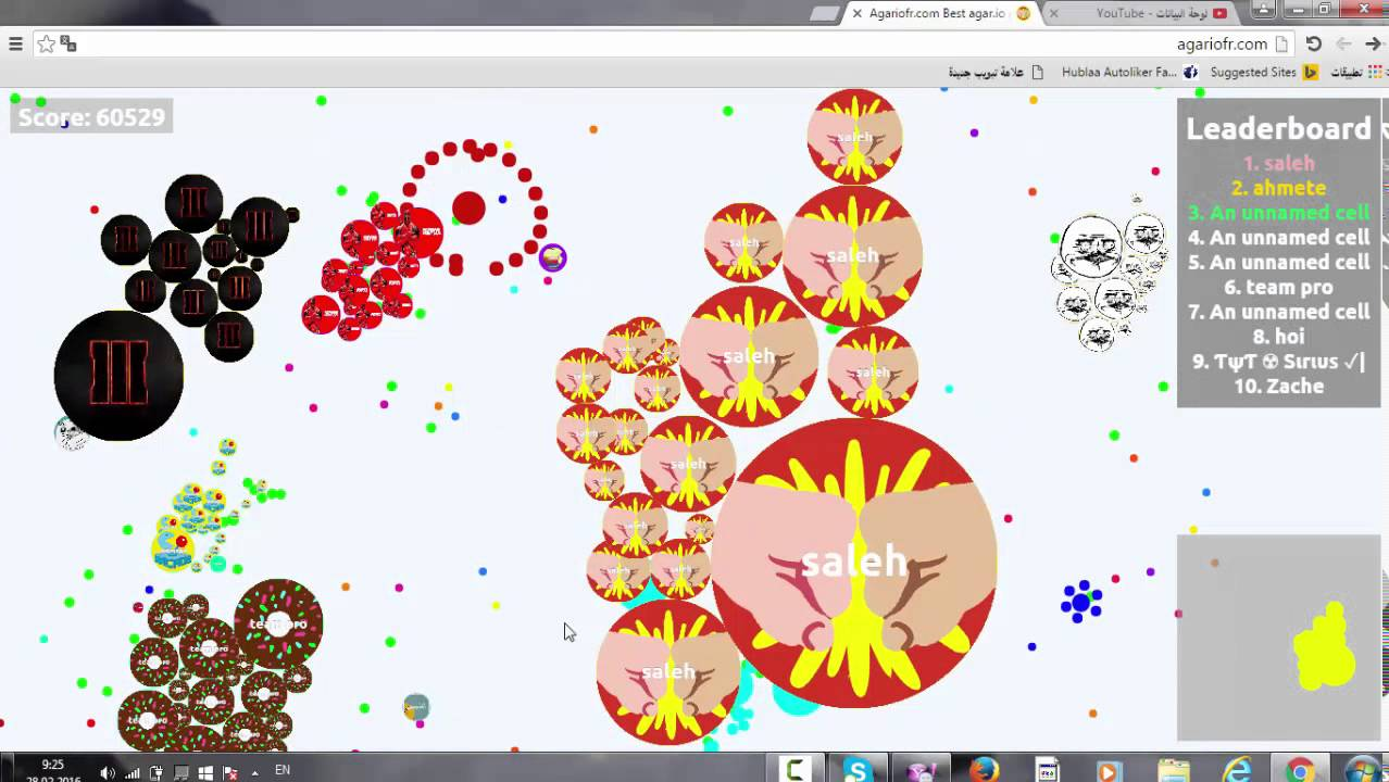 Agariofr new game agariofr me score:60529 - youtube
