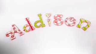 Paint Candy Stripes And Gingham Patterns On Letters