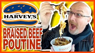 Harvey's Braised Beef Poutine Review & Drive-Thru Experience