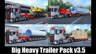 ✅ ETS2 1.30 - Big Heavy Trailer Pack v3.5