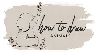How to Draw Animals | Doodle with me + Tutorial | v.2