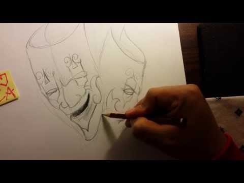 How to draw a gangster smile now cry later masks thumbnail