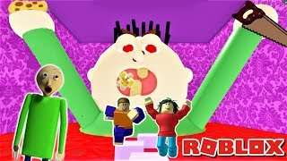 ESCAPE UNCLE JOE'S HOUSE OBBY AS BALDI WITH FANS (ft. PLAYTIME, BULLY, & SPONGEBOB) | Roblox