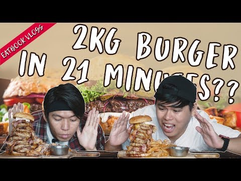 FOOD CHALLENGE: Finish A 2kg Burger In 21 Minutes To Eat for FREE | Eatbook Vlogs | EP 73