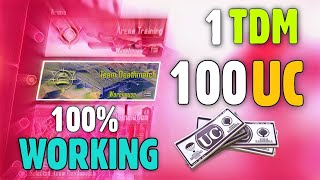 1 TDM=100 UC 2020 NEW TRICK😧 | PUBG MOBILE FREE UC TRICK | GET FREE UC IN PUBG MOBILE