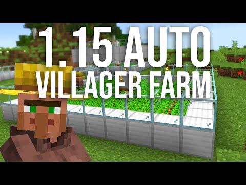 Easy 1.15 Automatic Villager Food Farm Tutorial