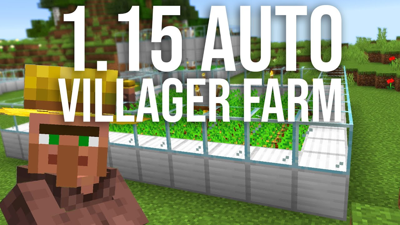 Easy 10.105 Automatic Villager Food Farm Tutorial