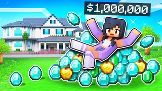 Playing On A Millionaire ONLY Server In Minecraft!