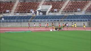 四国中学総体2017・陸上競技/男子3年1500m決勝、佐田海仁(後川中)4分11秒31