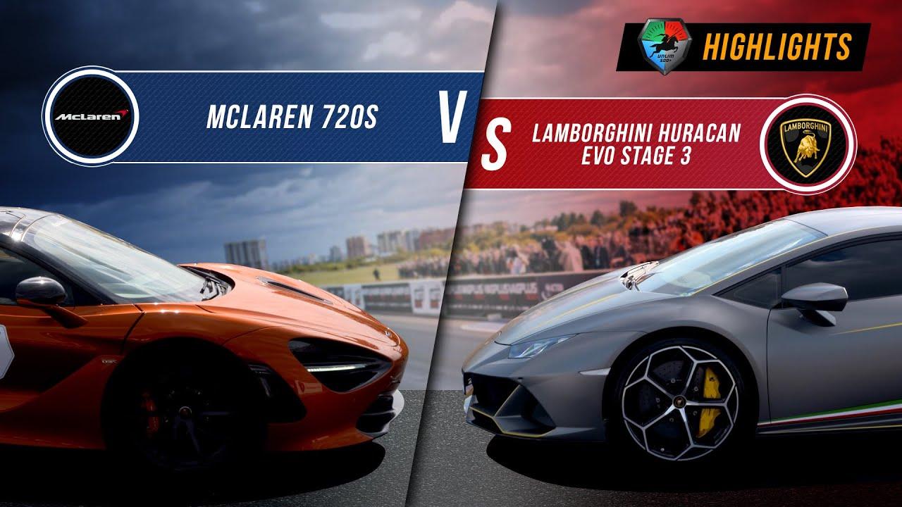 McLaren 720s vs Lamborghini Huracan EVO St.3 | UNLIM 500+ 2020 Highlight |