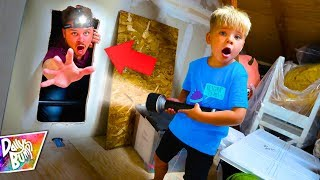 Exploring A Secret Room In Our Attic! What's Inside??