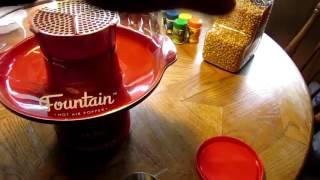 Presto Fountain Hot Air Popcorn Popper - Review & Demonstration