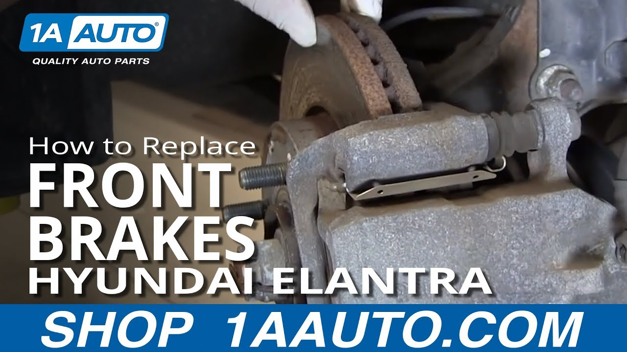 How to install replace do a front brake job 2001 06 hyundai elantra