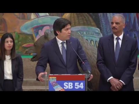 Sen. De León: The California Values Act (SB54) Press Conference