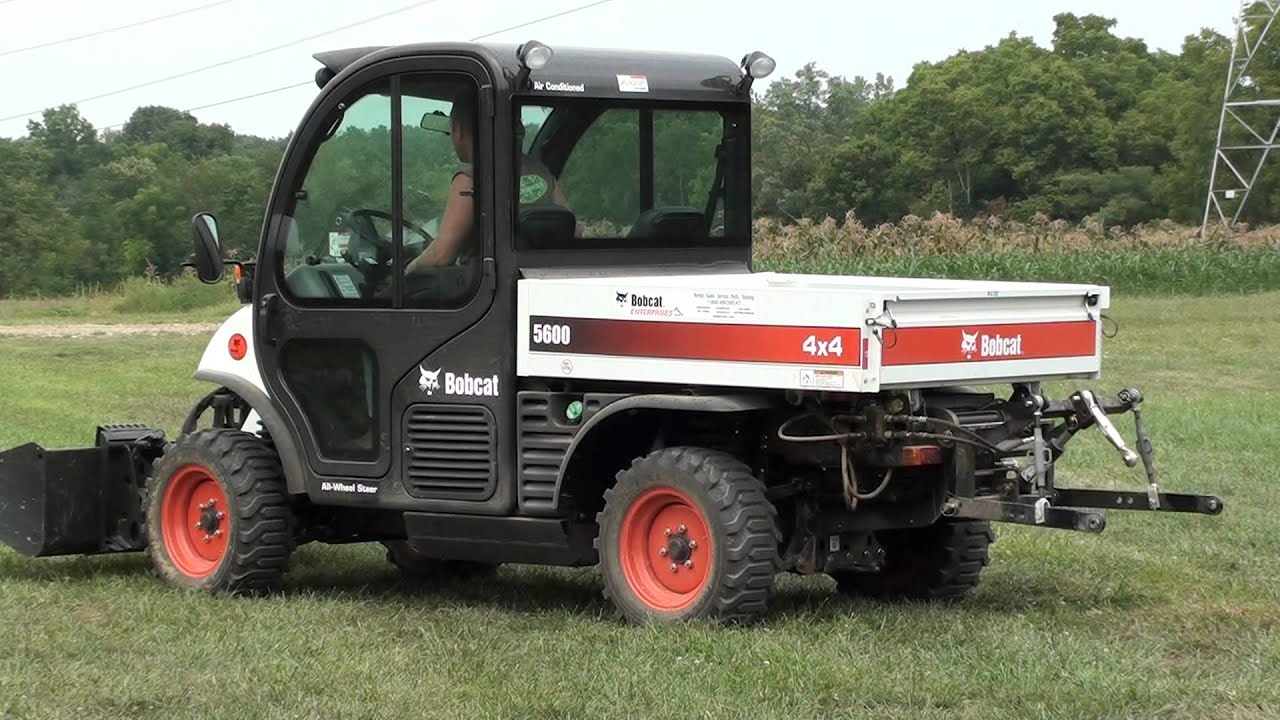Side By Side Utv >> UTV Hitchworks - Farmboy HD on the Bobcat Toolcat 5600 - YouTube