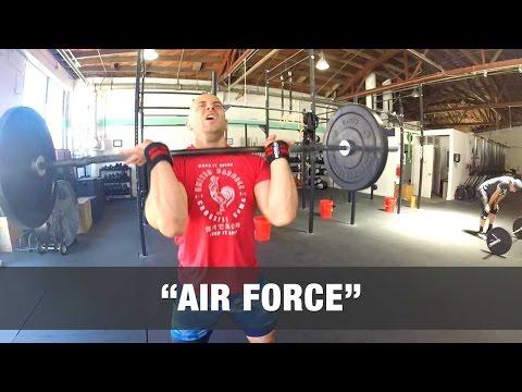 """""""AIR FORCE"""" CrossFit WOD - 9:33"""