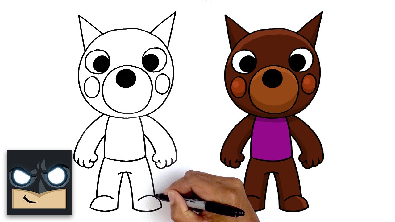 Easy Roblox Drawings How To Draw Doggy Roblox Piggy