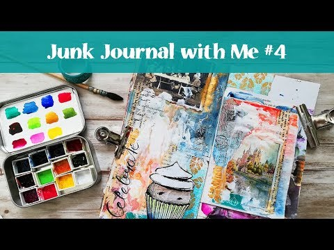 Junk Journal With Me - Process In My Traveler's Notebook #4