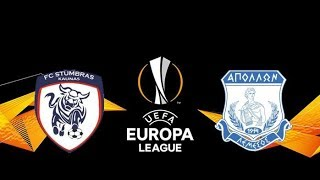 APOLLON LIMASSOL VS STUMBRAS UEFA EUROPA LEAGUE QUALIFICATION FULL HIGHLIGHTS & GOALS