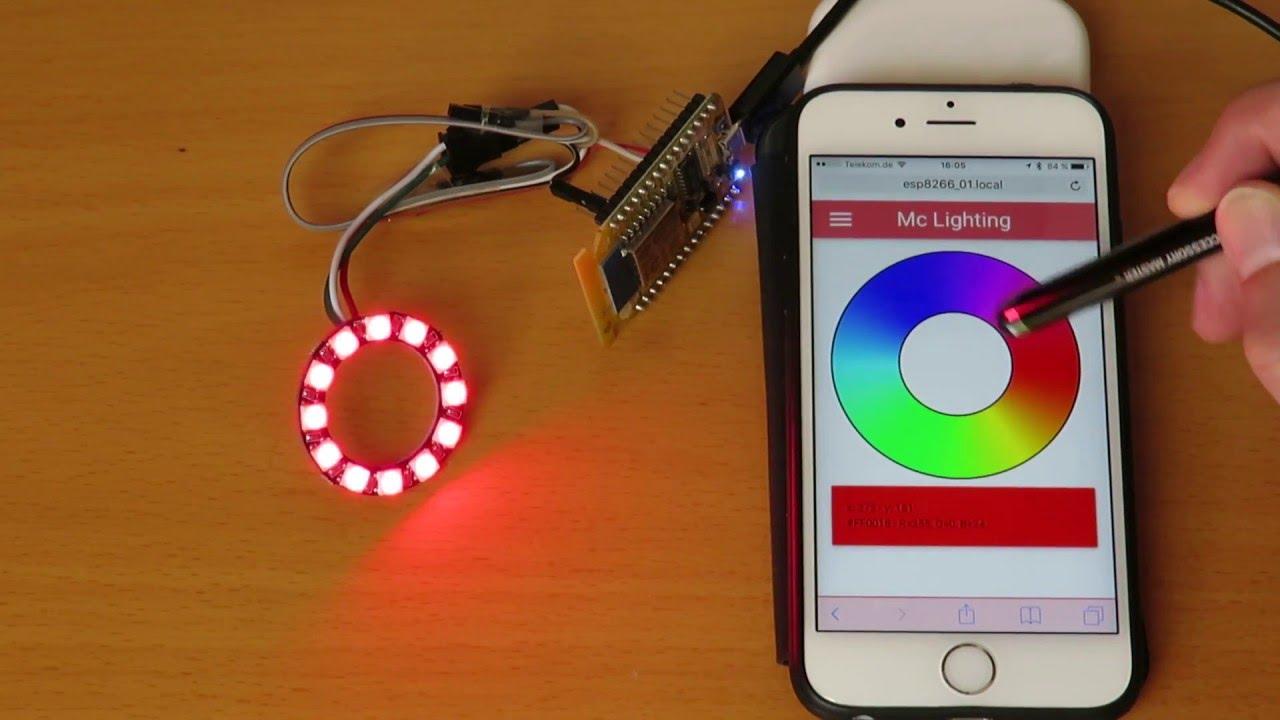 Wifi Smartlight Mit Esp8266 Ws2812 Und Arduino Youtube