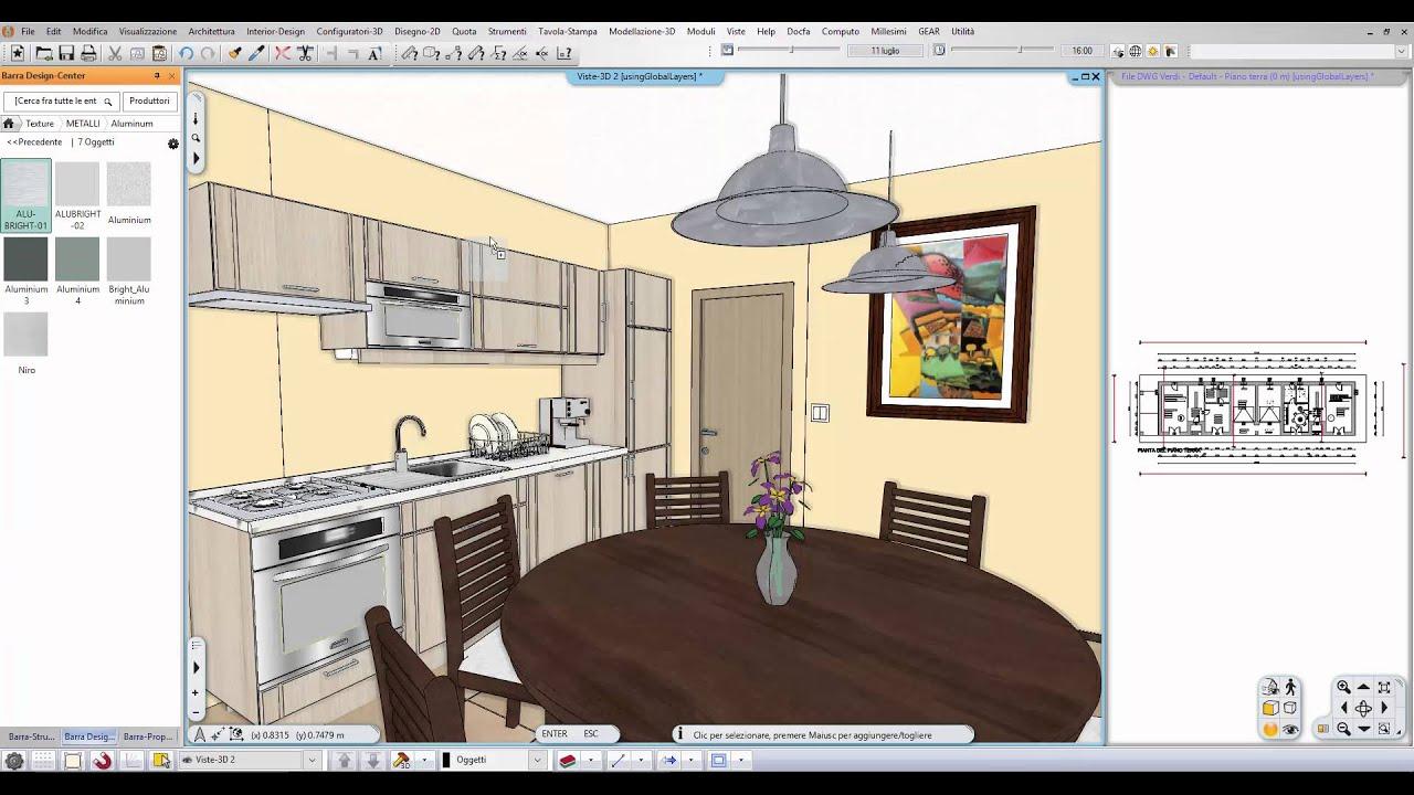 Progetto di interni luci youtube for Arredare in 3d