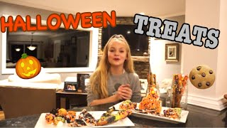 MAKING HALLOWEEN TREATS?!?!?! // Pressley Hosbach