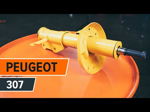 How to replace front shock absorbers and shock absorber mount on PEUGEOT 307 TUTORIAL | AUTODOC
