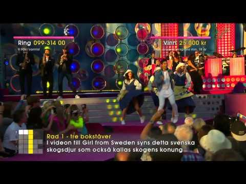 Eric Saade - Girl from Sweden - Sommarkrysset (TV4)