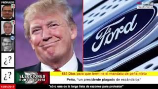 Empresas mexicanas contratacan a Ford y a Trump; no compraran sus autos